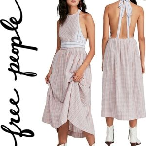 (NWT) FREE PEOPLE Color Theory Midi Dress